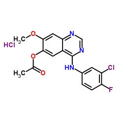 [4-(3-chloro-4-fluoroanilino)-7-methoxyquinazolin-6-yl] acetate,hydrochloride