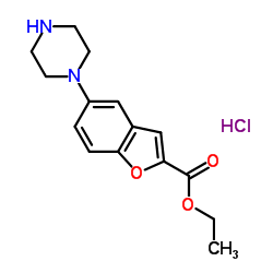 Ethyl 5-(piperazin-1-yl)benzofuran-2-carboxylate hydrochloride