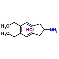 5,6-diethyl-2,3-dihydro-1H-inden-2-amine,hydrochloride