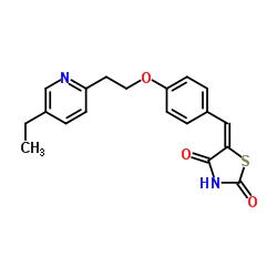 5-(4-(2-(5-エチルピリジン-2-イル)エトキシ)ベンジリデン)チアゾリジン-2,4-ジオン