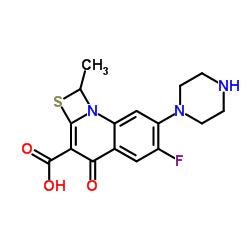 6-Fluoro-1-methyl-4-oxo-7-(piperazin-1-yl)-1,4-dihydro-[1,3]thiazeto[3,2-a]quinoline-3-carboxylic acid