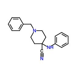 1-Benzyl-4-(phenylamino)piperidine-4-carbonitrile