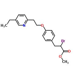 methyl 2-bromo-3-[4-[2-(5-ethylpyridin-2-yl)ethoxy]phenyl]propanoate