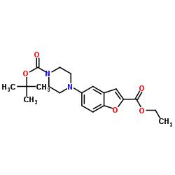 tert-butyl 4-(2-ethoxycarbonyl-1-benzofuran-5-yl)piperazine-1-carboxylate