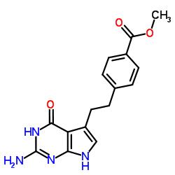 2-Amino-4,7-dihydro-5-[2-[4-(methoxycarbonyl)phenyl]ethyl]-4-oxo-3H-pyrrolo[2,3-d]pyrimidine