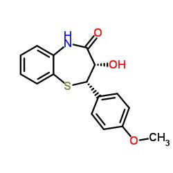 (2S-cis)-(+)-2,3-Dihydro-3-hydroxy-2-(4-methoxyphenyl)-1,5-benzothiazepin-4(5H)-one