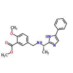 2-methoxy-5-((((1S)-1-(4-phenyl-4,5-dihydro-1H-imidazol-2-yl)ethyl)amino)methyl)benzoic acid