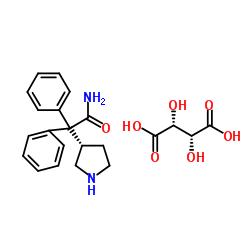 (S)-2,2-ジフェニル-2-(ピロリジン-3-イル)アセトアミド(2R、3R)-2,3-ジヒドロキシスクシネート