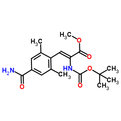 (Z)-methyl 2-((tert-butoxycarbonyl)amino)-3-(4-carbamoyl-2,6-dimethylphenyl)acrylate