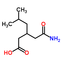 3-(2-amino-2-oxoethyl)-5-methylhexanoic acid