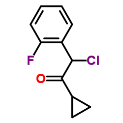 2-Chloro-1-cyclopropyl-2-(2-fluorophenyl)ethanone