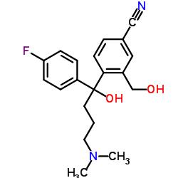 4-[4-(Dimethylamino)-1-(4-fluorophenyl)-1-hydroxybutyl]-3-(hydroxymethyl)benzonitrile
