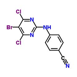4-[(5-bromo-4,6-dichloropyrimidin-2-yl)amino]benzonitrile