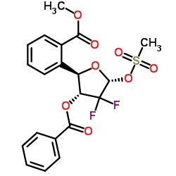 ((2R,3R,5S)-3-(Benzoyloxy)-4,4-difluoro-5-((methylsulfonyl)oxy)tetrahydrofuran-2-yl)methyl benzoate