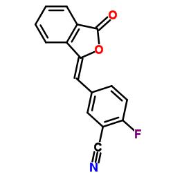 2-fluoro-5-[(Z)-(3-oxo-2-benzofuran-1-ylidene)methyl]benzonitrile