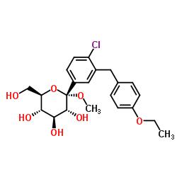 α-D-Glucopyranoside, methyl 1-C-[4-chloro-3-[(4-ethoxyphenyl)methyl]phenyl]-