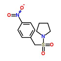 1-[(4-nitrophenyl)methylsulfonyl]pyrrolidine