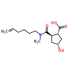 (1R,2R,4R)-2-(hex-5-en-1-yl(methyl)carbamoyl)-4-hydroxycyclopentane carboxylic acid
