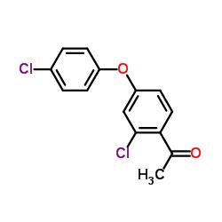 1-[2-Chloro-4-(4-chlorophenoxy)phenyl]ethan-1-one
