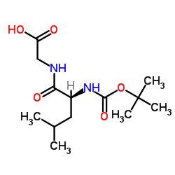 2-[[(2S)-4-methyl-2-[(2-methylpropan-2-yl)oxycarbonylamino]pentanoyl]amino]acetic acid