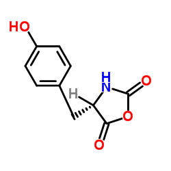 (S)-4-(4-hydroxy-benzyl)-oxazolidine-2,5-dione