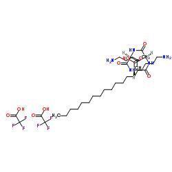 N2-(1-オキソヘキサデシル)-L-リシル-L-バリル-L-リジン2,2,2-トリフルオロ酢酸