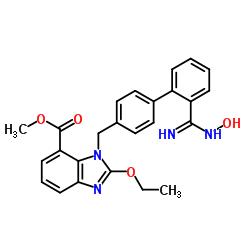 2-Ethoxy-1-[[2'-[(hydroxyamino)iminomethyl][1,1'-biphenyl]-4-yl]methyl]-1H-benzimidazole-7-carboxylic acid methyl ester