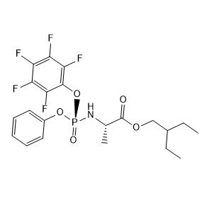 2-ethylbutyl ((S)-(perfluorophenoxy)(phenoxy)phosphoryl)-L-alaninate