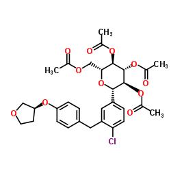 (1S)-1,5-anhydro-2,3,4,6-tetra-O-acteyl-1-C-[4-chloro-3-[[4-[[(3S)-tetrahydrofu-ran-3-yl]oxy]phenyl] methyl]phenyl]-D-Glucitol